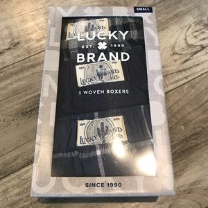 Lucky Brand Men's 3 Pack Woven Boxers